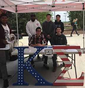 Kappa Sigma boys tabling