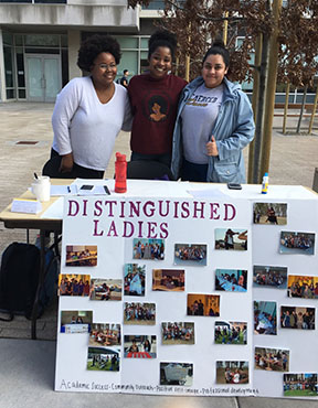 Distinguished ladies tabling at SAAM fair